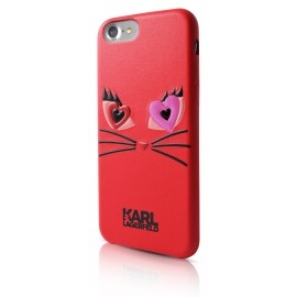 Coque iPhone 7 Karl lagerfeld Choupette In Love 2 Rouge