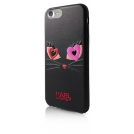 Coque iPhone 7 Karl lagerfeld Choupette In Love 2 Noire