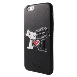 Coque iPhone 7 Karl lagerfeld Choupette In Love Noire