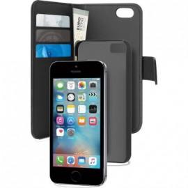Etui iphone 5 / 5s / SE Puro avec magnet détachable noir
