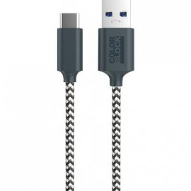 Câble USB C tissé gris de 2 mètres