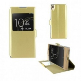 Etui Sony XA 1 Ultra folio stand doré