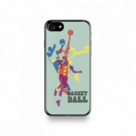 Coque Iphone X motif Basket Ball Fond Vert