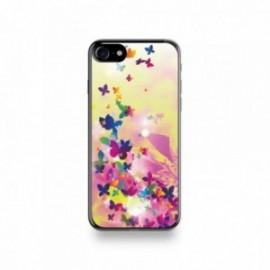 Coque Iphone X motif Fleur Pop Art Et Ses Papillons Multicolor