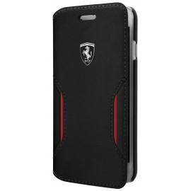 Etui iphone 6 plus / 6s plus / 7 plus Ferrari folio Heritage cuir noir