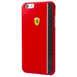 Coque iphone 6 plus / 6s plus Ferrari Scuderia glossy rouge