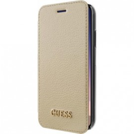 Etui iPhone X folio Guess doré