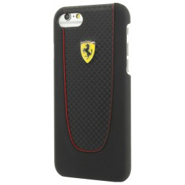 Coque iphone 7 plus / iphone 8 plus Ferrari Pit stop carbone noir