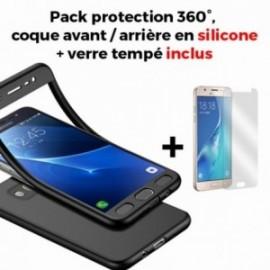 Coque Samsung galaxy J5 2017 silicone 360° + film en verre trempé