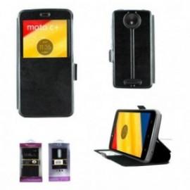 Etui Motorola C Plus book vision noir
