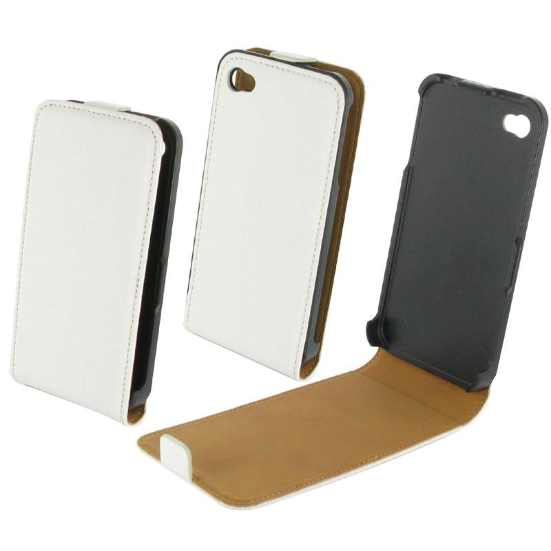 housse iphone 4s cuir blanche destination telecom