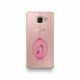 Coque Sony Xperia XZ1 motif Cage d'Oiseaux Rond Rose