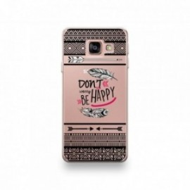 Coque Sony Xperia XZ1 motif Don't Worry Be Happy Pattern Noir