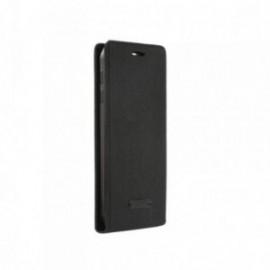 Etui Iphone 5/5S/SE clapet noir aspect jean