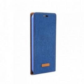 Etui Iphone 5/5S/SE clapet bleu aspect jean