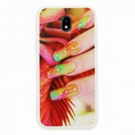 Coque Samsung J3 2017 bump ongles rouge