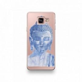Coque Wiko Harry motif Buddha Bleu