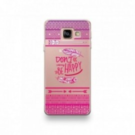 Coque Wiko Harry motif Don't Worry Be Happy Pattern Rose