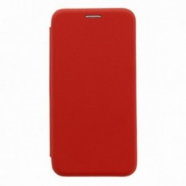 Etui Iphone X folio rouge intérieur gel