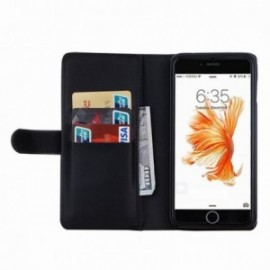Etui Iphone 6/6s folio porte monnaie + coque noir