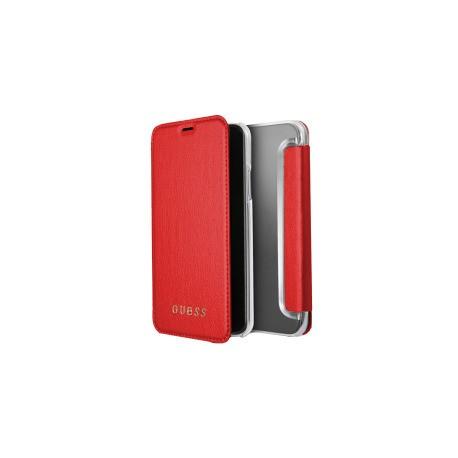Etui iPhone X folio Guess rouge