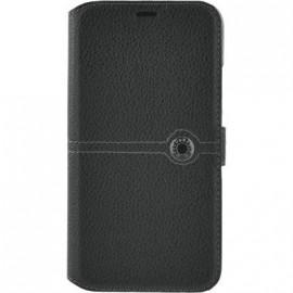 Etui iPhone X Façonnable folio noir