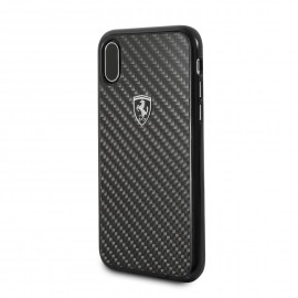 Ferrari Coque Apple iPhone X Heritage carbone noire