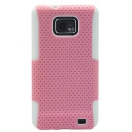 Coque Samsung galaxy s2 perforée rose