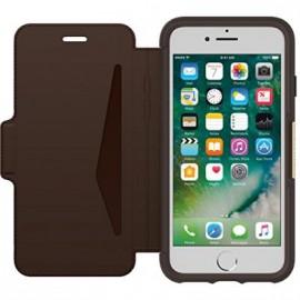 Etui iPhone 7/ iphone 8 folio Strada Otterbox en cuir marron