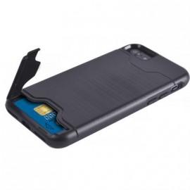 Coque iPhone 7 / iphone 8 rigide Colorblock noire avec porte-cartes