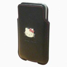 Etui iphone 3G vertical noir Hello kitty