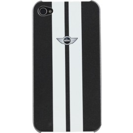 Coque iPhone 4/4S Mini racing noire et blanche
