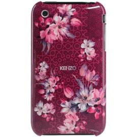 Coque iPhone 3G/3GS Nadir rouge à motif fleuri rose