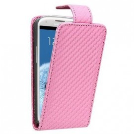 Etui Samsung Galaxy S3 i9300 aspect carbone rose