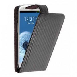 Etui Samsung Galaxy S3 i9300 aspect carbone noir