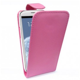 Etui Samsung Galaxy S3 i9300 rose simili cuir