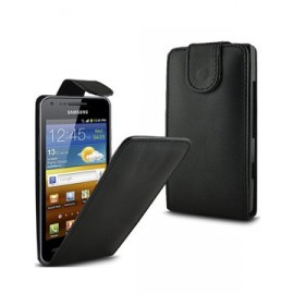 Etui Samsung Galaxy S Advance i9070 simili noir