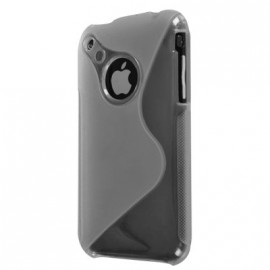 Coque iphone 3g 3gs Bi-Matière transparente