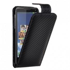 Etui Motorola Smart façon carbone noir