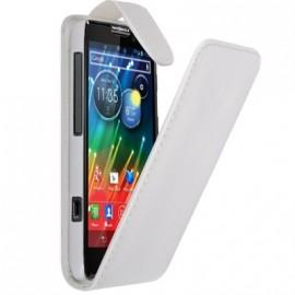 Etui Motorola RAZR HD simili cuir blanc