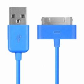 Câble Data Iphone 3GS/4/4S/ Ipad 2&3&4 bleu