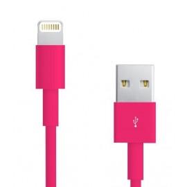 Câble Data Iphone 5/5S/5C rose