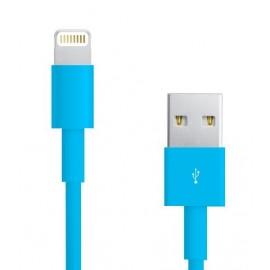 Câble Data Iphone 5/5S/5C bleu
