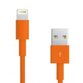 Câble Data Iphone 5/5S/5C orange