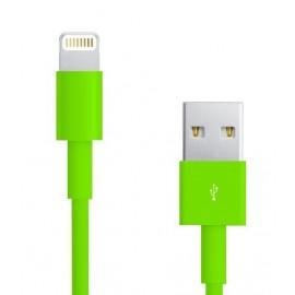 Câble Data Iphone 5/5S/5C vert