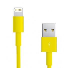 Câble Data Iphone 5/5S/5C jaune