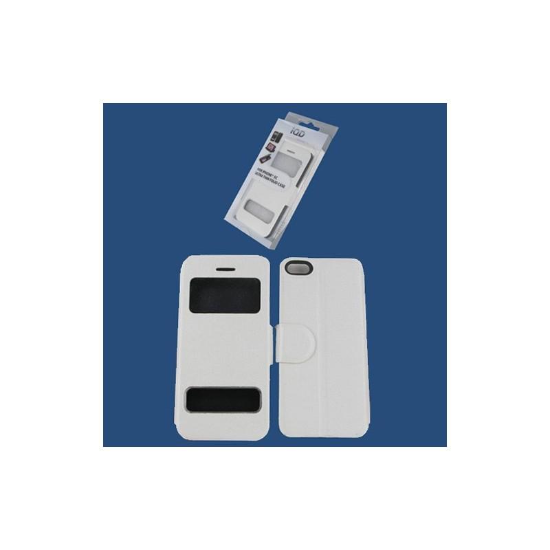 etui iphone 5c folio s view blanc destination telecom. Black Bedroom Furniture Sets. Home Design Ideas