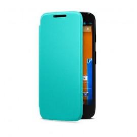 Etui Motorola G flip shell turquoise origine motorola