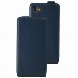 Etui Flip Ucall Houston aspect cuir bleu