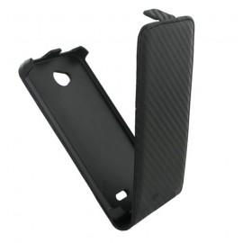 Etui LG L70 aspect carbone noir
